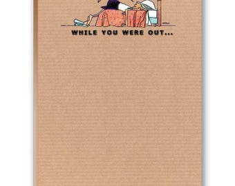 While You Were Out - Funny Note Pad - 2 Cute Note Pads - 35014