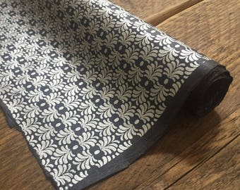 Silver & Navy Wrapping Paper ~ Wedding Gift Wrap ~ Lokta Paper ~ Handmade Paper ~ 70 x 50cm
