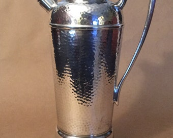 Vintage Art Deco Silver Plate Martini Pitcher with Music Box