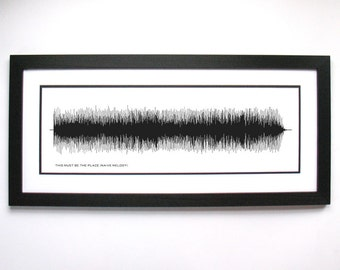 This Must Be The Place (Naive Melody) - Sound Wave Poster, Print, Framed Print, or Canvas - Rock Song/Music Wall Art