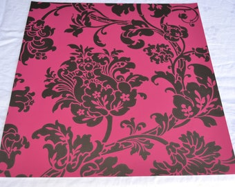 Wallpaper - Cole and Son  Sample Sheet  - 19 x 17 Eastern Rose in Pink and Grey Metallic