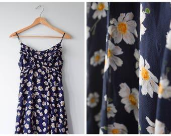Chiffon daisy-print maxi dress | S