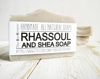Rhassoul Clay, Rhassoul Clay Soap, Organic Soap, Unscented Soap, Palm Free, Clay Soap, Fragrance Free Soap, Vegan Soap, Natural Soap