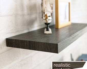 "Floating Wall Shelf 30"" Soft Grain Eco Friendly Decorative Shelving in Black Ash made from non-toxic zBoard LIFETIME WARRANTY (w-s30-ba)"