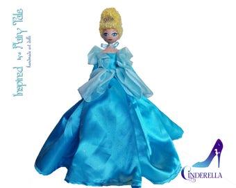 Cinderella Doll,OOAK Cinderella Doll,Cinderella Art Doll, Disney Princess, Cinderella Centerpiece, Hand Painted Cinderella, Clothespin Doll