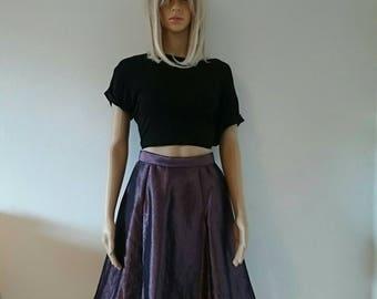 Purple Silk Circle skirt