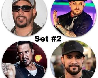"Set of 4 AJ McLean Large 2.25"" Pinback Buttons or Magnets - Choose Your Favorite Set Backstreet Boys BSB"