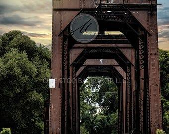Train Bridge MLC075 on Glare Free Vinyl 5' wide by 7' tall