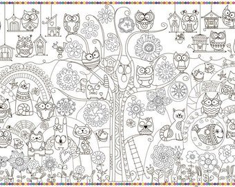 """Coloring poster """"Owl"""" size 60*100cm"""