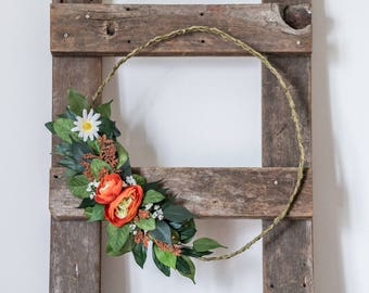 Modern Wreath, Hipster Wreath, Year Round Wreath, Fall Wreath, Housewarming Gift, Rustic Wreath, Summer Wreath, Spring Wreath, Decoration,