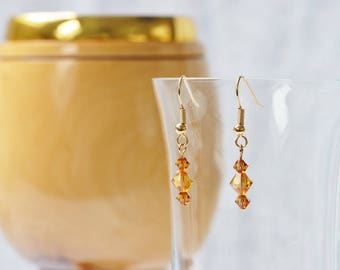 Swarovski  Topaz Crystal Earrings