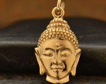 Bronze Buddha Head Charm