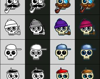 Skullycons Skull Emoticons & Icons - Hats