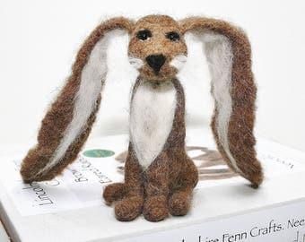 Felting Tutorial - rabbit felting kit for beginners  - Lop eared rabbit