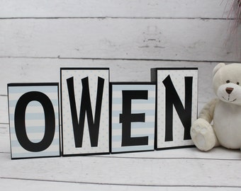 baby boy name blocks wood block letters baby shower gift baby boy nursery decor baby nursery sign boy bedroom decor boy gift idea