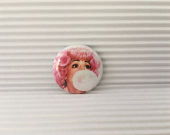 "Frenchie Button, Grease, Frenchy, 1"" Pinback Button, Beauty School Dropout"