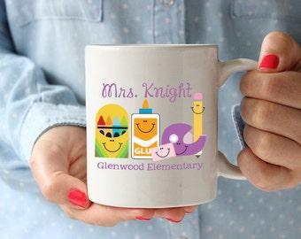 Teacher Coffee Mug,Teacher Appreciation Gift, Elementary Teacher Gift, Personalized Teacher Mug