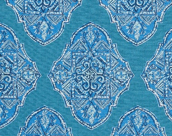 Malta Cyan, Lacefield Fabrics, Fabric By The Yard