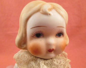 "Vintage Antique All Bisque 7"" Doll"