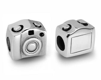 Stainless Steel Camera Bead / Camera Charm European Bead For European Charm Bracelets #16-CCB