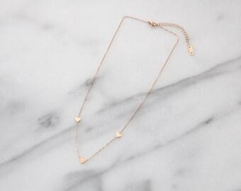 Triple Heart Necklace - M1511