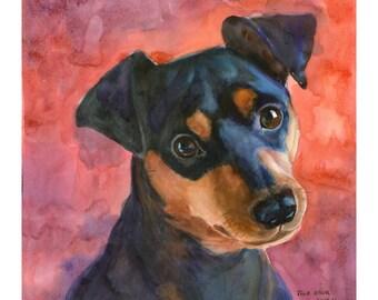 Custom Dog Portrait, Original Watercolor, Pet portrait, Watercolor Portrait, Dog Custom Portrait