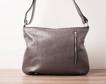 Leather handbag, purse - Model Max of Loubier