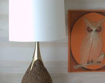 Retro Desk Lamp, Mid Century Modern Lamp, Cork Lamp,  Laurel Lamp