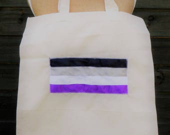 LGBT Asexual Cotton Shopping Tote Bag