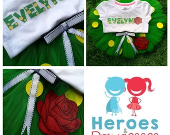 Wiggles fans will love the 'Dorothy the Dinosaur'  Inspired Tutu and Personalised top