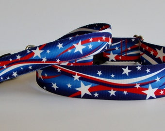 Star Spangled Patriotic Dog Collar or Leash - READY TO SHIP!