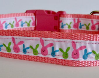 Bunny Ears Pink Easter Dog Collar - READY TO SHIP!