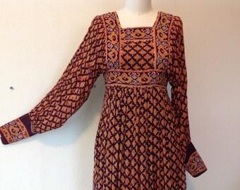 1960s Indian maxi dress