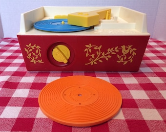 Vintage Fisher-Price Record Player 1971 Fisher price Musical Movement record player 1971 Fisher price Wind up record player