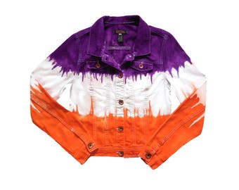 Orange + Purple Tie-Dye Jacket