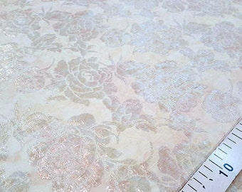 Cream roses jacquard fabric #1078