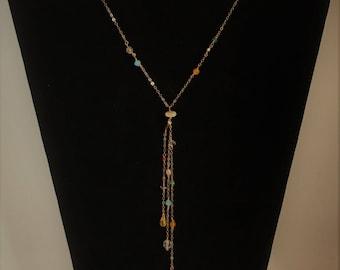 Cascading Rose Gold Filled Lariat Necklace