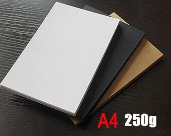 250g of A4 kraft paper , kraft display card , blank kraft cards TZ177