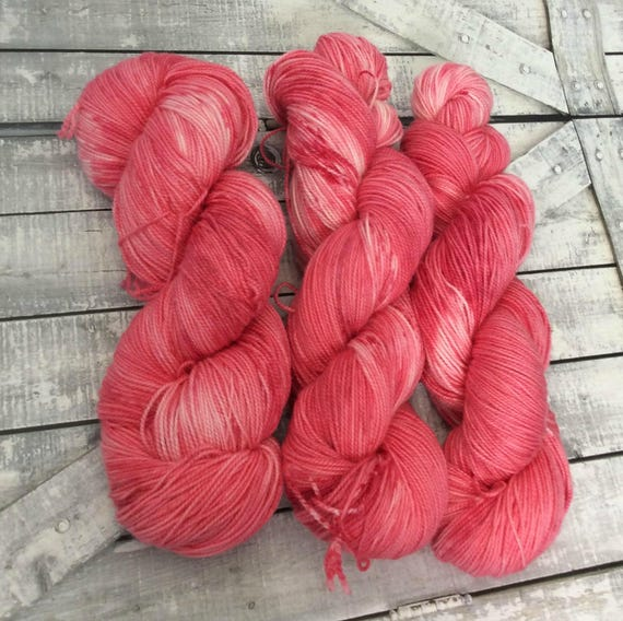 Hand Dyed Yarn,Amaryllis,Deadly Gardens Yarn, Fingering Weight,2 ply,80/20 Superwash Merino,100 grams,indie dyed yarn,knit & crochet