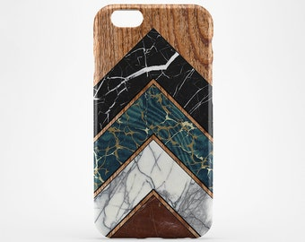 Black Marble iPhone 8 Case Wood iPhone X Case iPhone 7 Case iPhone 8 Plus iPhone 6 Plus Cover Style iPhone 6 Geometric iPhone SE Galaxy S8