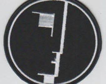 Bauhaus punk hardcore embroidered patch - logo