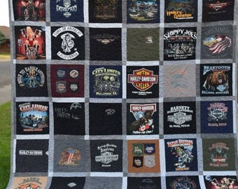 T Shirt Quilt, Custom Made, Keepsake Quilts, Memory Quilts, Fathers day Quilts,  Machine Quilted and Binded