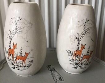 West German pair of vases