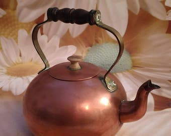 Vintage Tagus Copper Kettle/ Teapot with Lid