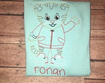 Custom daniel tiger shirt can do any name or cokir shirt