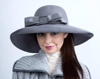 Floppy felt hat, wide brim fedora, fur felt hat, floppy wide-brim hat, boho hat, New York style hat, boho fur felt, Wide brim hat,