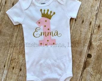 1st Birthday Princess bodysuit