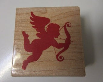Cupid Valentine's Day Rubber Stamp-Cupid Stamps-Valentine's Day Decor