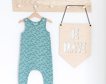 Aqua Mountains Organic Cotton Baby/Toddler Romper