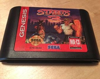Streets of Rage 3 | Sega Genesis Game Cartridge | Video Game | Authentic
